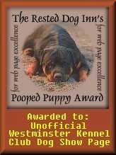 The Rested Dog Inn's Pooped Puppy Award